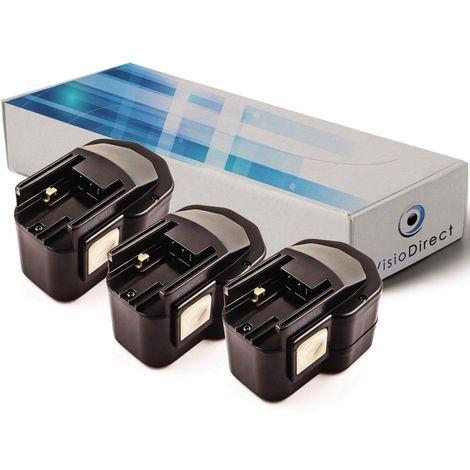 Lot de 3 batteries pour Milwaukee LokTor CG12 visseuse 12V 2000mAh - Visiodirect -