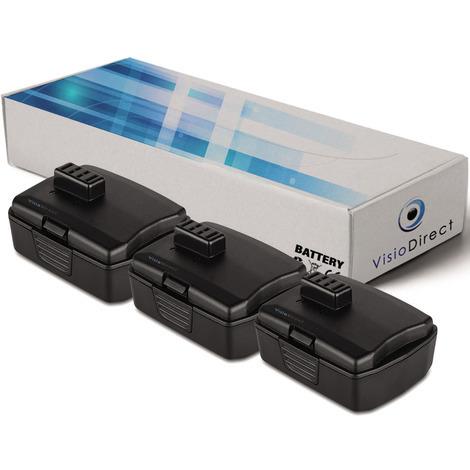 Lot de 3 batteries pour Ryobi BID-1201 perforateur sans fil 2000mAh 12V