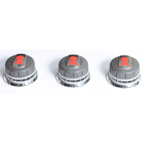Lot de 3 boutons de réglage gaz pour barbecue gaz Genesis