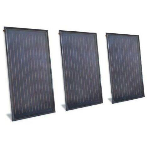 Lot de 3 capteurs solaires plans pose saillie pour ballon ECS 2078X3975X100mm surface 7,71m² TSOL 25 EMAT 5000-82