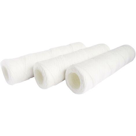 """Lot de 3 cartouches filtrantes bobinées 20µ - Taille standard 10""""- Durée 12 mois"""