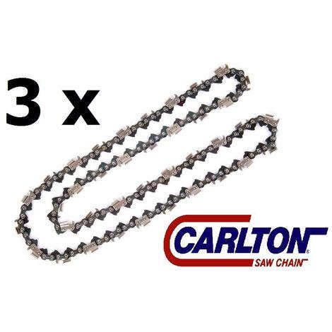 Lot de 3 chaînes Carlton , 40cm , 66 maillons pour tronçonneuse 0.325 / 1.3 / 66
