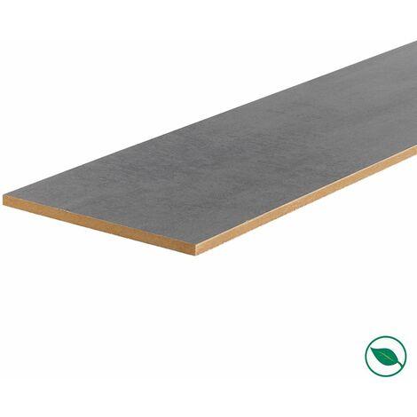 Lot de 3 contremarches rénovation d'escalier stratifié dark grey 1300 x 200 x 8 mm