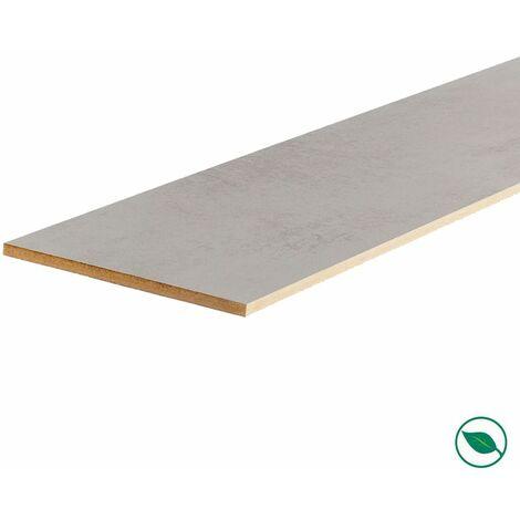 Lot de 3 contremarches rénovation d'escalier stratifié light grey 1300 x 200 x 8 mm