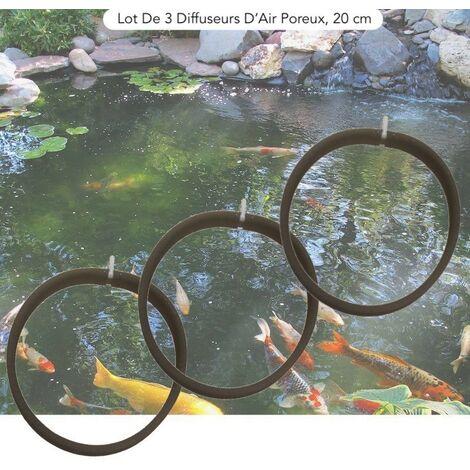 Lot De 3 Diffuseurs D'Air Poreux PREMIER PRIX 20 cm. à Lester Pour Bassins De Jardin - Noir