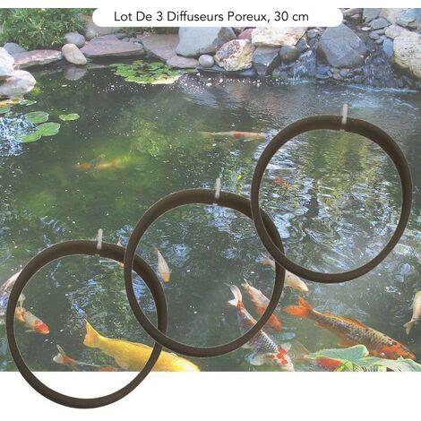 Lot De 3 Diffuseurs D'Air Poreux PREMIER PRIX 30 cm. à Lester Pour Bassins De Jardin - Noir
