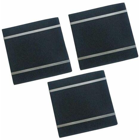 Lot de 3 filtres charbon + fixations AK550AE1 (51486-2277) (71X0729) Hotte 51486_3662734132159 DE DIETRICH