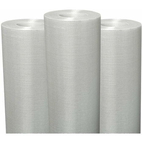 Lot de 3 Fiss Renov tissu en fibre de verre pour murs et plafond Semin - évite les fissures et renforce les supports - rouleau de 50 x 1 m