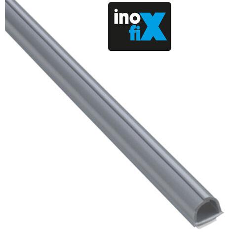 Cablefix Lot de 3 gaines adh/ésives Cablefix 10,5 x 10 mm gris metallis/é
