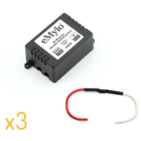 Lot de 3 Kits de gestion de chauffage fil pilote 433 Mhz compatible RFXcom