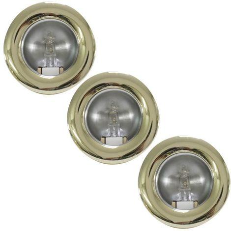 Lot de 3 mini spots fixes encastrables doré Lumières Mini downlight plafond ou placard