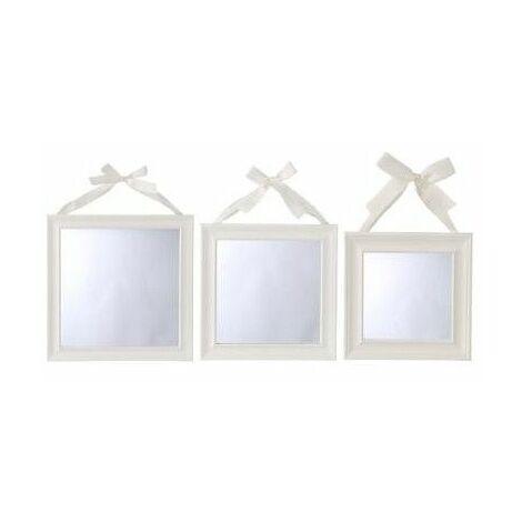 """main image of """"Lot de 3 miroirs carrés - Blanc - Livraison gratuite"""""""