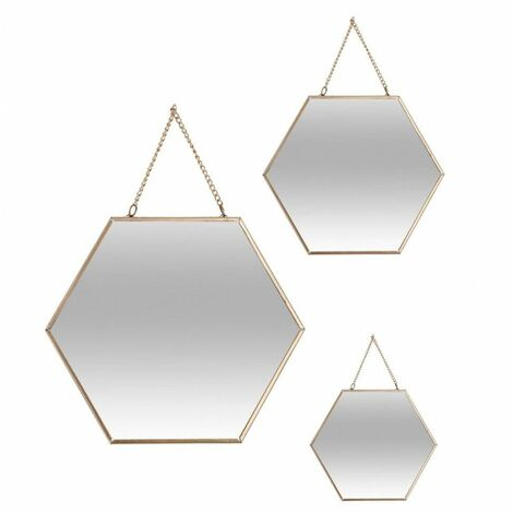 Lot de 3 Miroirs dorés Essential Mood - Atmosphera