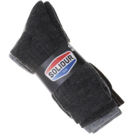 Lot de 3 Paires de chaussettes de travail Solidur Safety