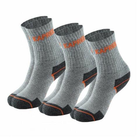 Lot de 3 paires de chaussettes WORK grises KAPRIOL - plusieurs modèles disponibles