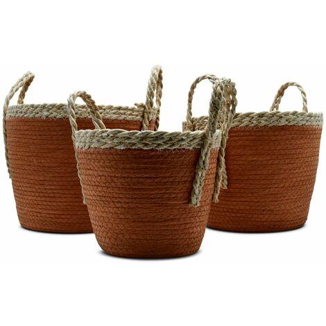 Lot de 3 paniers cache pots