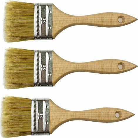 Lot de 3 pinceaux en poils naturels de 60 mm