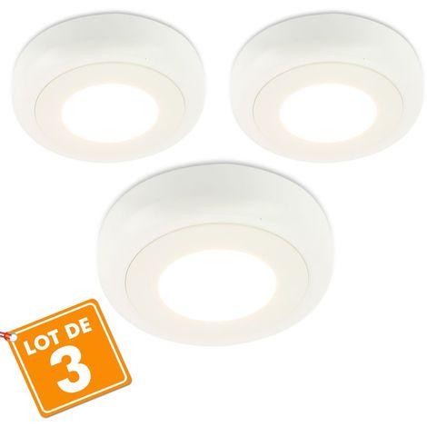 Lot de 3 Plafonniers LED surface intérieur 6W Eq 40Watts | Température de Couleur: Blanc neutre 4000K