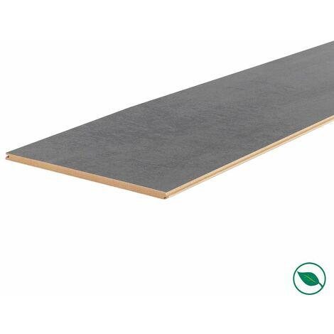 Lot de 3 planches palier rénovation d'escalier stratifié dark grey 2050 x 225 x 8 mm .