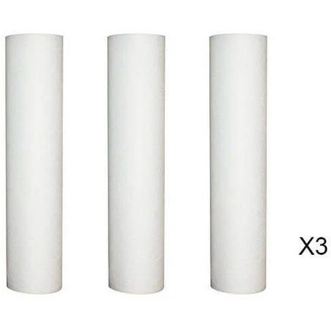 Lot de 3 Recharges anti-sédiment 5 microns pour porte filtre 9 - 3/4 - 10 Pouces