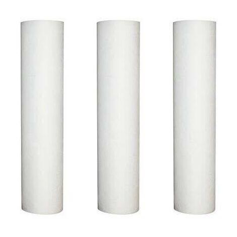 Lot de 3 recharges anti-sédiment 50 microns pour porte filtre 9-3/4 - 10 Pouces