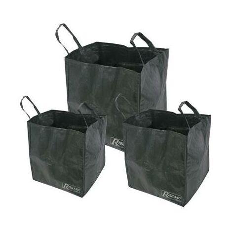 Lot de 3 sac à feuille - herbe- dechet de jardin 70 a 170 L