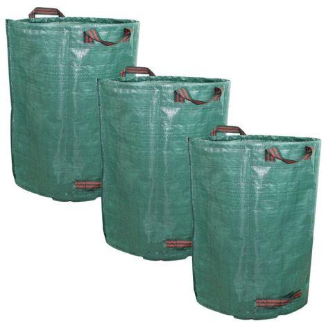 """main image of """"Lot de 3 sacs de déchets 160, 300 ou 500L en PP 150g/m² autoportants - Linxor"""""""
