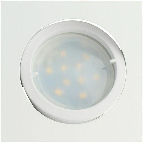Lot de 3 Spot Led Encastrable Carré Blanc Orientable lumière Blanc Chaud 5W eq. 50W ref.404