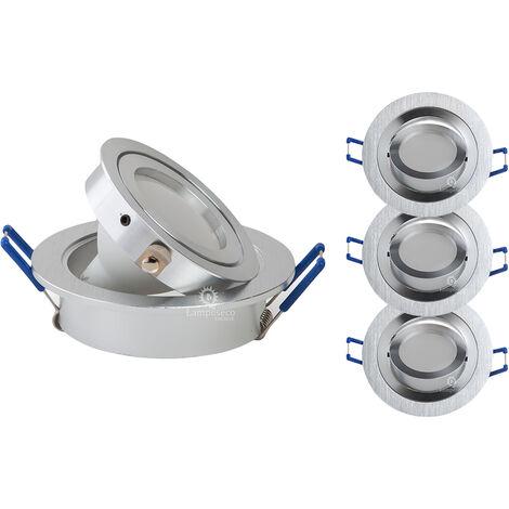 LOT DE 3 SPOT LED ENCASTRABLE ORIENTABLE 5W eq. 50W, BLANC CHAUD ref.64853000