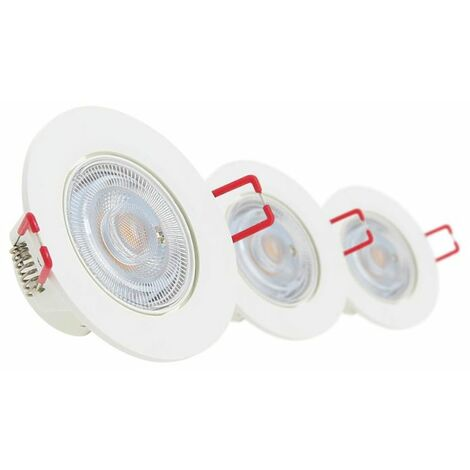 Lot de 3 spots à LED intégrés - 345 lumens - dimmable | Xanlite