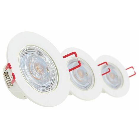 Lot de 3 spots à LED intégrés Orientables - 345 lumens - dimmable   Xanlite