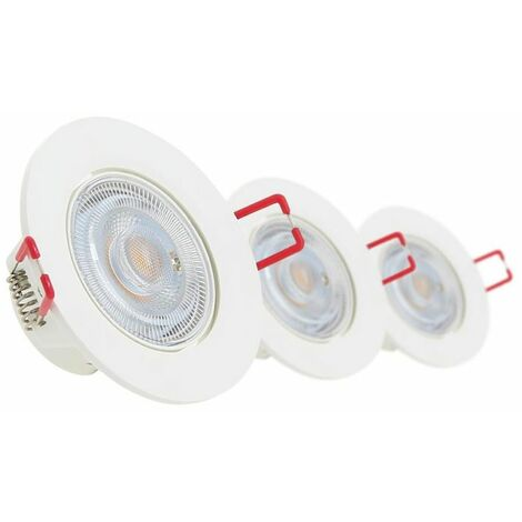 Lot de 3 spots à LED intégrés Orientables - dimmable   Xanlite