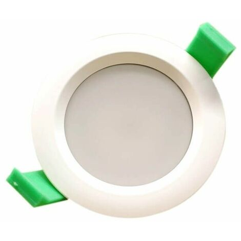 Lot de 3 spots à LED ronds 95mm Blanc chaud IP65 7W