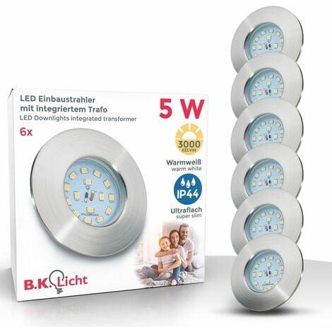 lot de 3 spots LED à encastrer ultra-plats salle de bain IP44 spots encastrables plafond