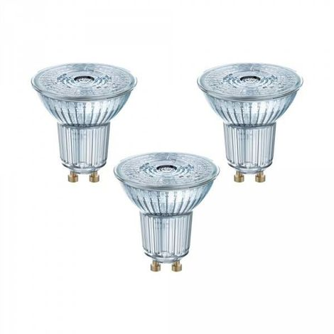 Lot de 3 Spots LED GU10 PAR16 36° 4,3 watt (eq. 50 watt) blanc chaud