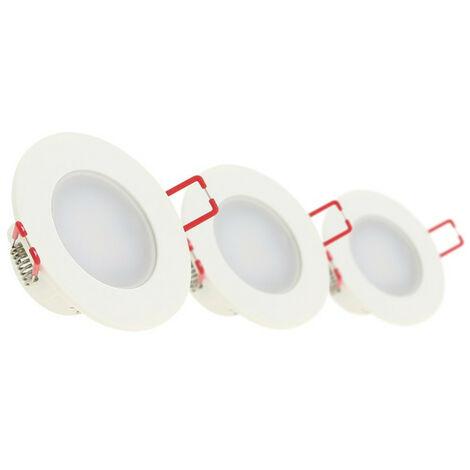 Lot de 3 spots LED intégrés - 345 lumens - spéciale salle de bain