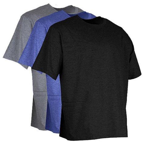 Lot de 3 T-shirts été à col rond - Gamme été - LYON - GRIS-BLEU CHINE-NOIR - 9162C - LMA Lebeurre
