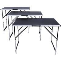 Lot de 3 Tables à Tapisser Pliables en Aluminium