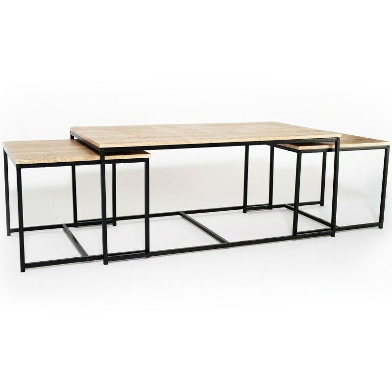 Basses Gigognes De Lot 3 Tables Detroit 113 Industriel Cm Design 8n0wOXNPk