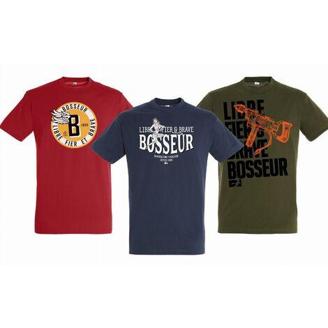 Lot de 3 Tee-shirts Edition limitée 2019 BOSSEUR - taille L - 11491-002