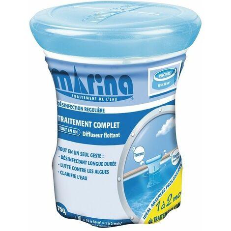 Lot de 3 Traitement complet au chlore en diffuseur flottant Marina - Pour piscines 10 à 30 m³