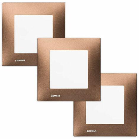LOT de 3 Va et Vient Blanc Delta Viva + Plaques Métal Marron - SIEMENS