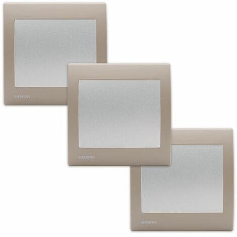 LOT de 3 Va et Vient Silver Delta Iris + Plaques Soft Taupe - SIEMENS