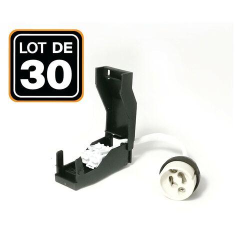 Lot de 30 Douilles GU10 Céramique Automatique 230V classe 2