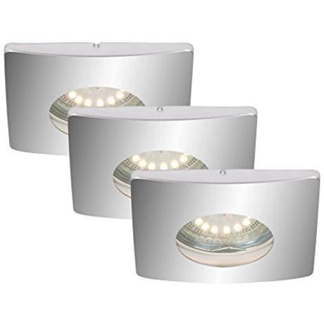 Lot de 3spots encastrables LED, Spot Oscillant, Salle de Bain/salle de bain Convient