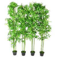 Lot de 4 bambous artificiels 190cm