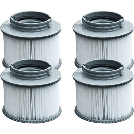 Lot de 4 cartouches filtrantes à baïonnette pour spa gonflable MSPA