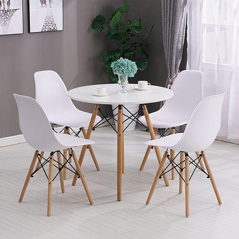 Lot de 4 Chaise de salle à manger design scandinave 41 x 46 x 82 cm