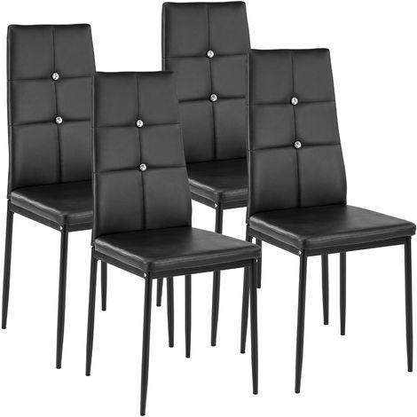 Lot de 4 chaises avec strass