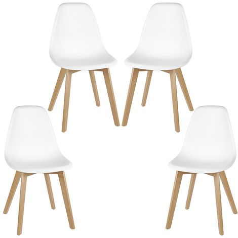 Lot de 4 chaises de salle à manger design contemporain scandinave